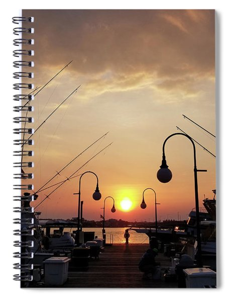 Sunset At The End Of The Talbot St Pier Spiral Notebook