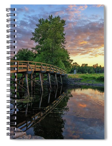 Sunset At The Old North Bridge Spiral Notebook