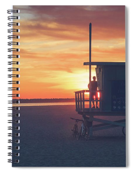Sunset At Toes Beach Spiral Notebook