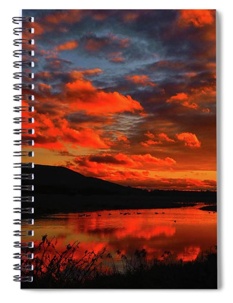 Sunset At Wallkill River National Wildlife Refuge Spiral Notebook