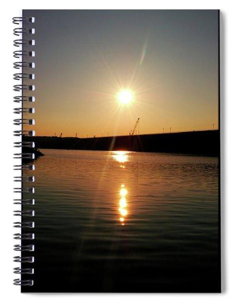 Sunset At Wolf Creek Dam Spiral Notebook