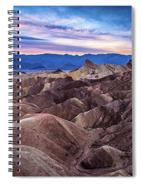 Sunset At Zabriskie Point In Death Valley National Park Spiral Notebook