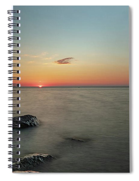 Spiral Notebook featuring the photograph Sunset Bay Sunset - Long Exposure by Rod Best