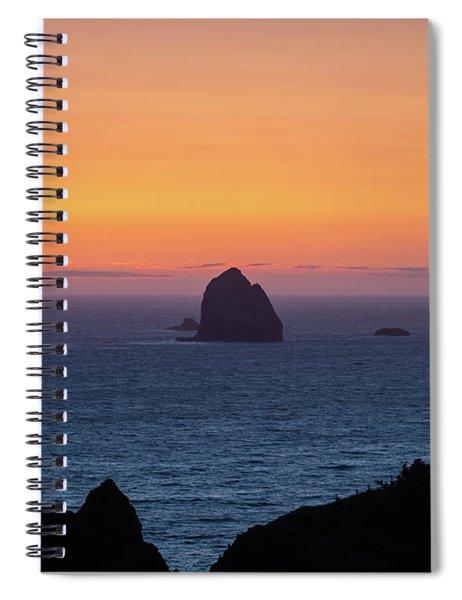 Sunset Behind Yellow Rock Spiral Notebook