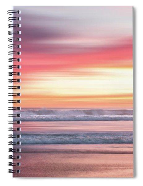 Sunset Blur - Pink Spiral Notebook