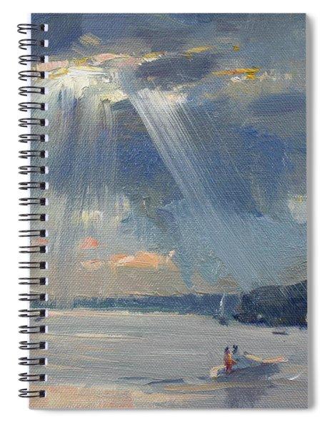 Sunset Boating Spiral Notebook