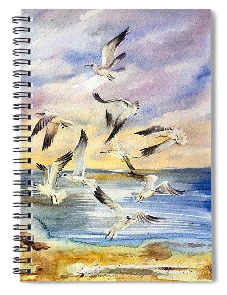 Sunset Dance Spiral Notebook