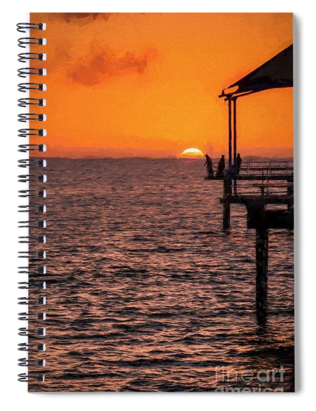 Sunset Fishing          Ed Spiral Notebook