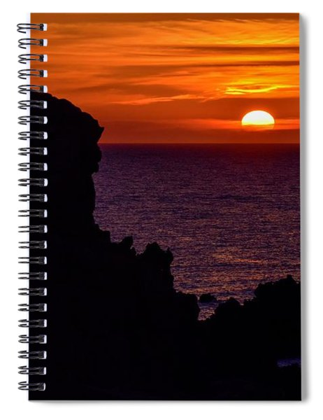 Sunset From Costa Paradiso Spiral Notebook