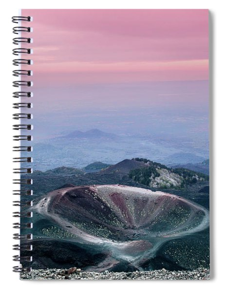 Sunset From The Top Of The Etna Spiral Notebook