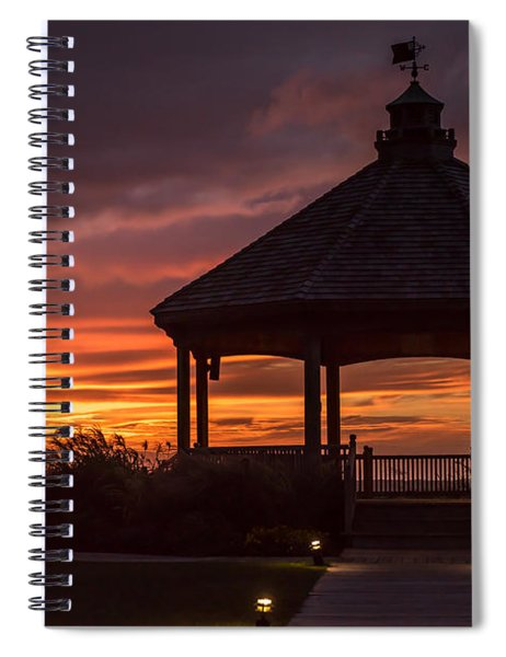 Sunset Gazebo Lavallette New Jersey Spiral Notebook