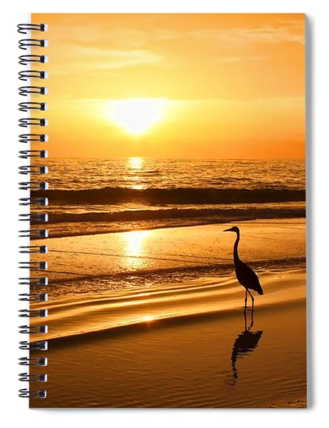 Sunset Gold Spiral Notebook