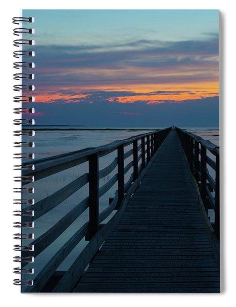 Sunset Grays Beach Cape Cod Spiral Notebook
