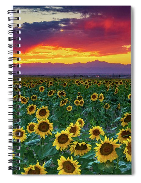 Spiral Notebook featuring the photograph Sunset Hour by John De Bord