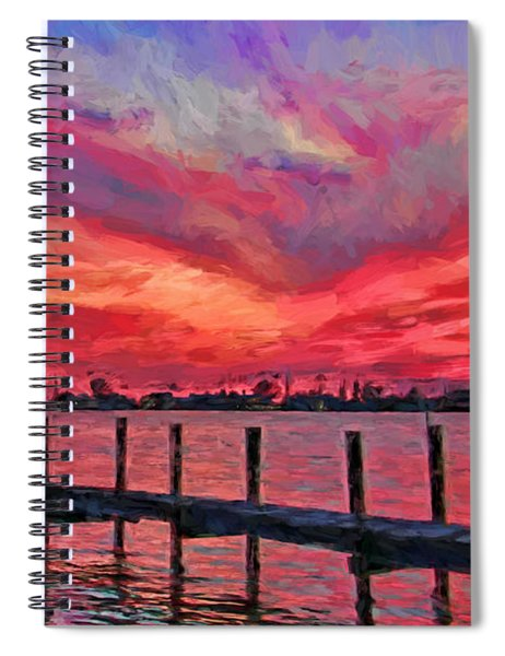 Sunset Impressionism Spiral Notebook