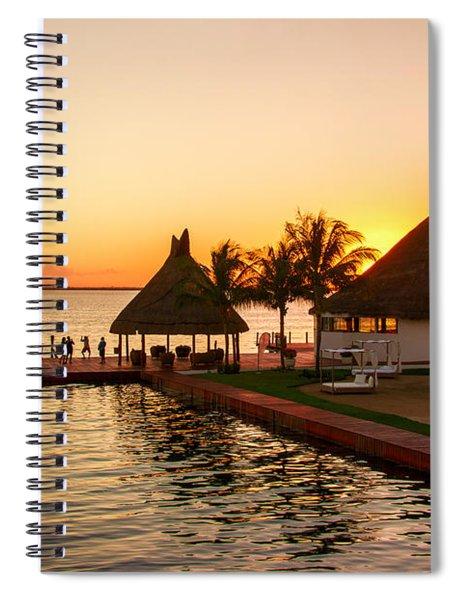 Sunset In Cancun Spiral Notebook