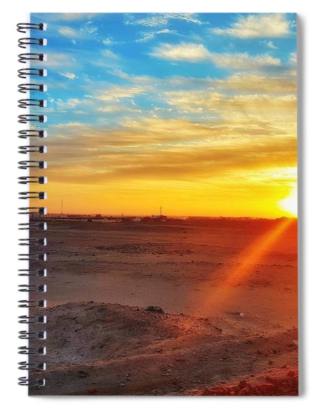 Sunset In Egypt Spiral Notebook