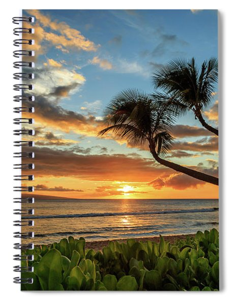 Sunset In Kaanapali Spiral Notebook