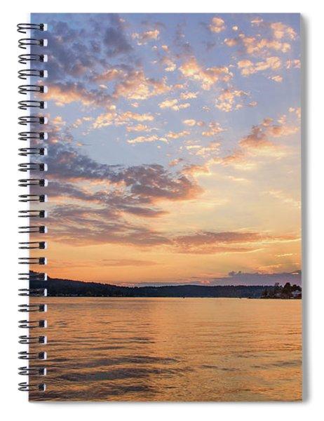 Sunset In Lake Sammamish Spiral Notebook