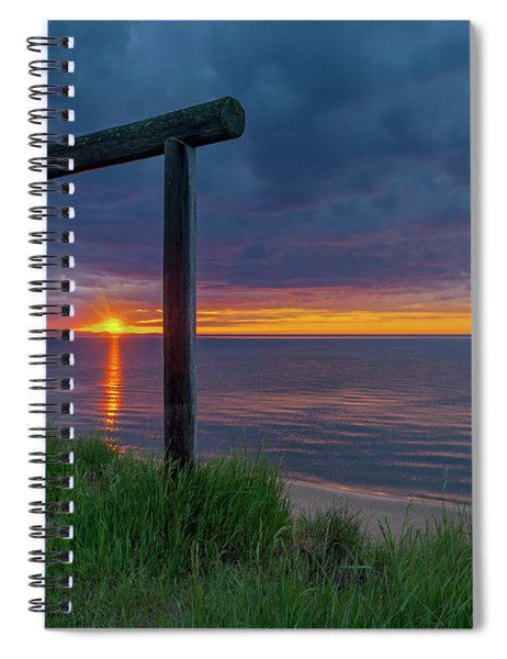 Sunset In Marquette Spiral Notebook