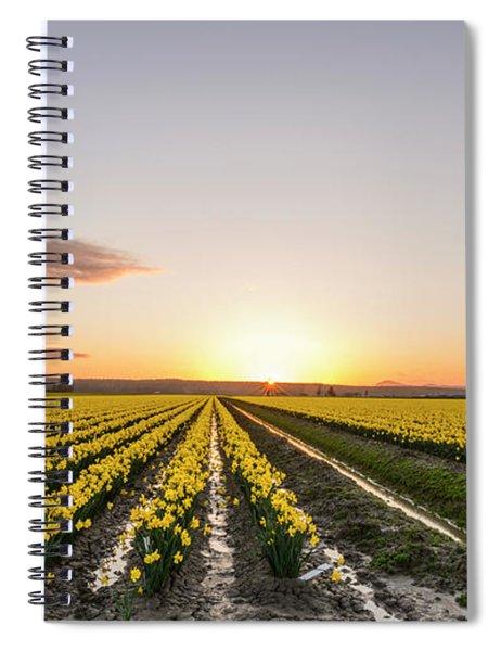 Sunset In Skagit Valley Spiral Notebook