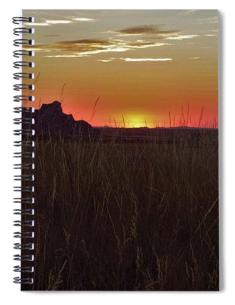 Sunset In The Badlands Spiral Notebook