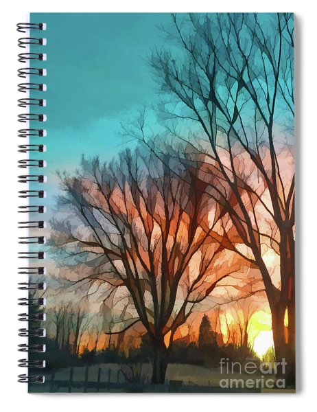 Sunset In The Country Spiral Notebook