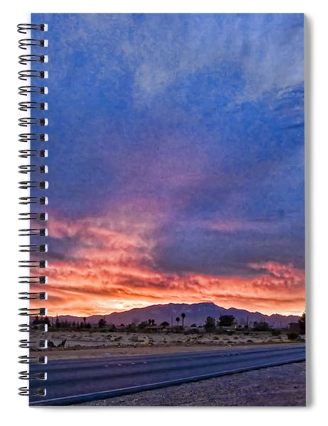 Sunset In The Desert Spiral Notebook