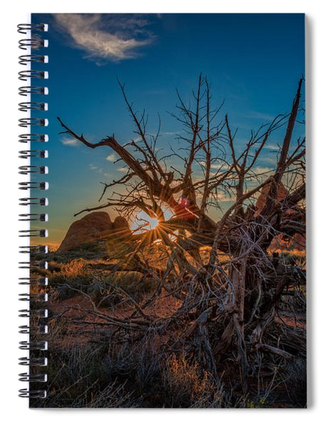 Sunset In The Devil's Garden Spiral Notebook
