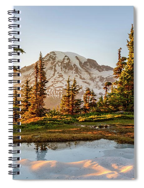 Sunset In The Pinnacle Saddle Spiral Notebook