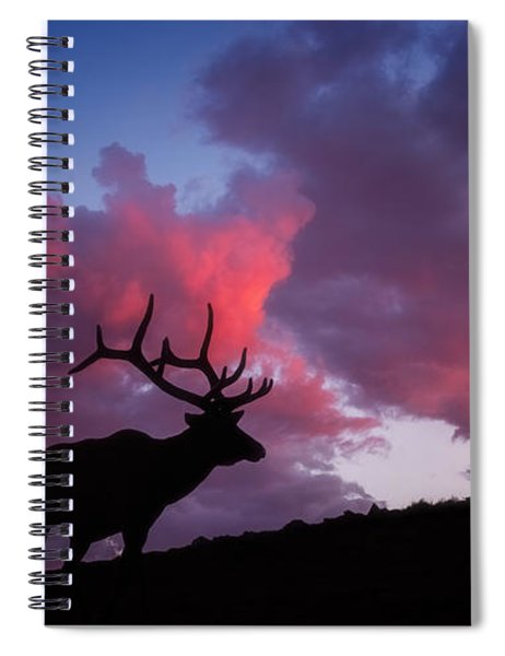 Sunset In The Rockies Spiral Notebook