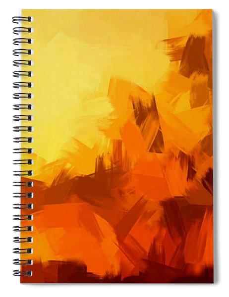Sunset In Valhalla Spiral Notebook