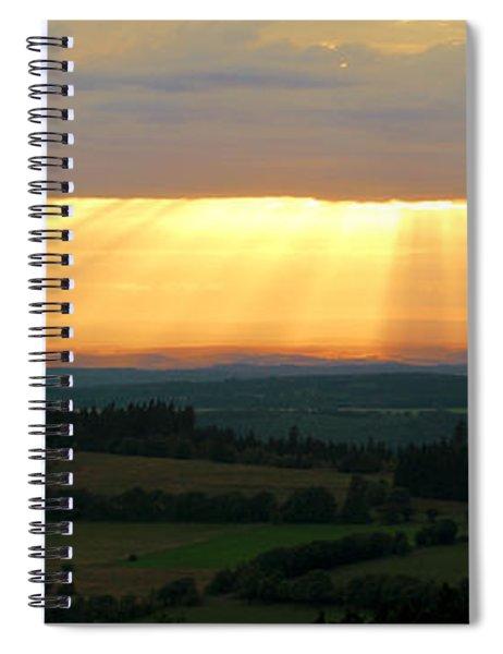 Sunset In Vogelsberg Spiral Notebook