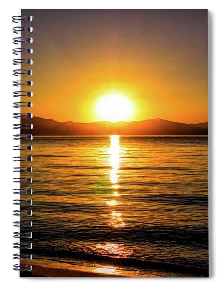 Sunset Lake 1 Spiral Notebook
