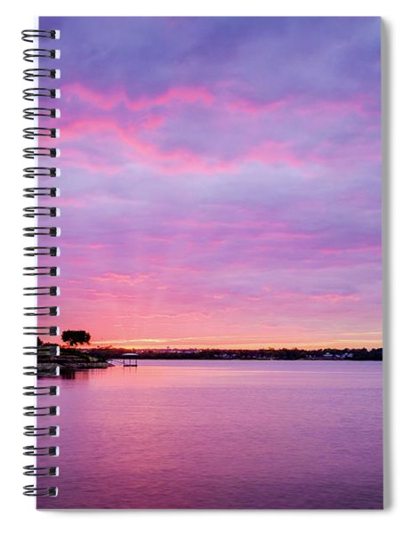 Spiral Notebook featuring the photograph Sunset Lake Arlington Texas by Robert Bellomy