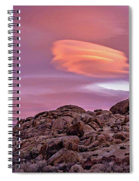 Sunset Lenticular Spiral Notebook
