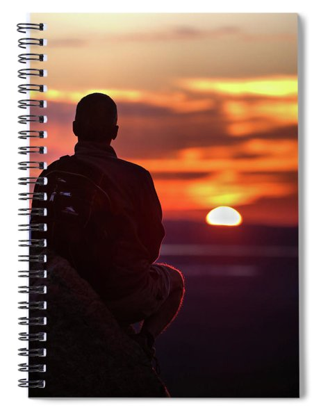 Sunset Meditation Spiral Notebook