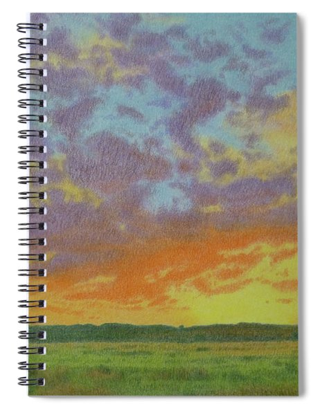 Sunset Near Miles City Spiral Notebook