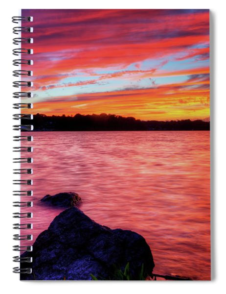 Sunset Of Fire Spiral Notebook