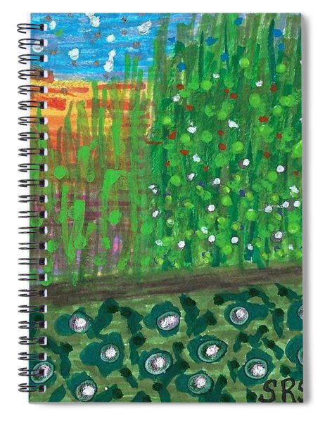 Sunset On A Florida Canal Spiral Notebook
