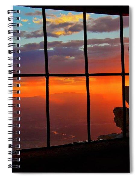 Sunset On Albuquerque's Rio Grande Valley Spiral Notebook