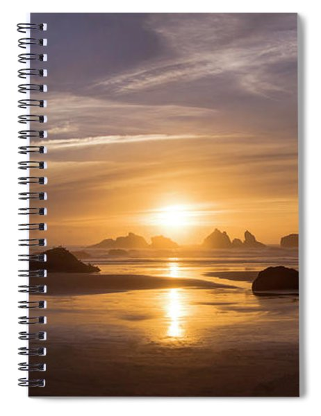 Sunset On Bandon Beach Spiral Notebook