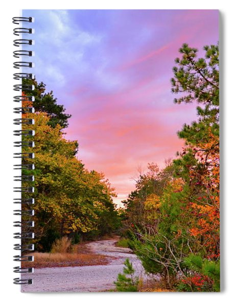 Sunset On Bombing Run Road Spiral Notebook