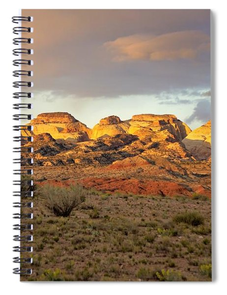 Sunset On Capitol Reef Spiral Notebook