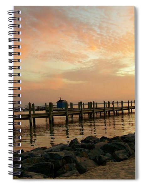 Sunset On Dewey Bay Spiral Notebook