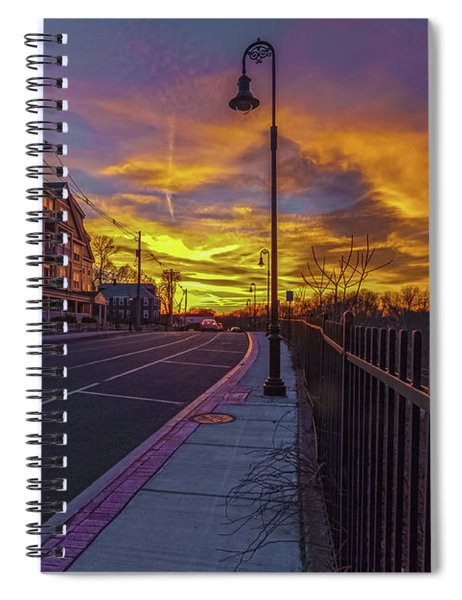 Sunset On Eliot St Milton Ma Spiral Notebook
