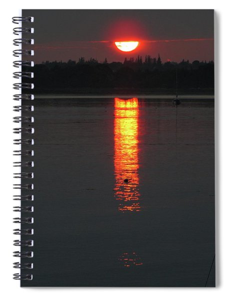 Sunset On Friendship Spiral Notebook