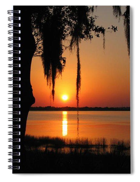 Sunset On Lake Minneola Spiral Notebook