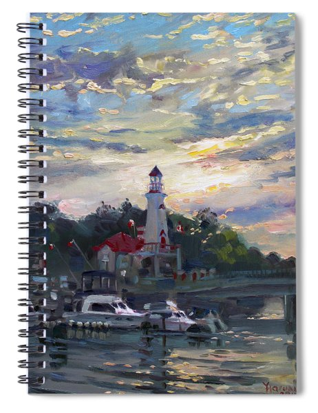 Sunset On Lake Shore Mississauga Spiral Notebook