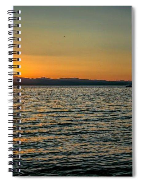 Sunset On Left Spiral Notebook